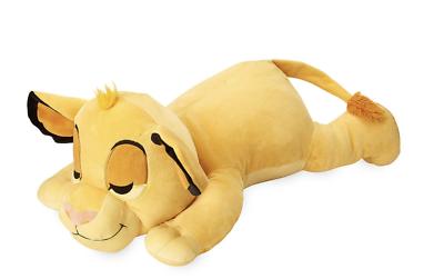"Disney Store Simba Cuddleez Plush The Lion King Medium 14/"" Simba Pillow"
