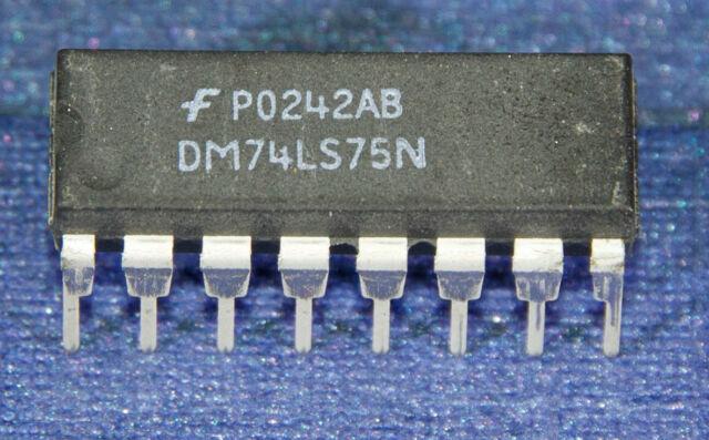 4pcs 74LS75 74LS75N IC Quadruple Bistable Transparent Latch DIP-16