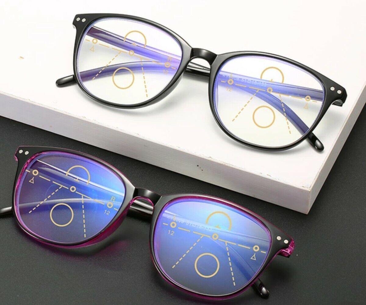 Gleitsichtbrille - Lesebrille Blaulichtfilter Blaufilter Lesebrille