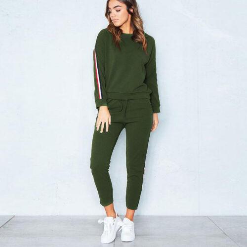 Womens Tracksuit Hoodies Pants Set Ladies Activewear Sport Lounge Wear Size 6-20