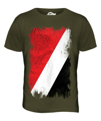 Sealand grunge drapeau t-shirt homme tee top football cadeau chemise vêtements jersey