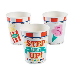 Carnival Paper Cups (8 Pack) 9 Ounce 3 1/2""