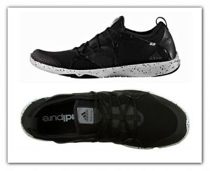 separation shoes 8831e a694f Image is loading Women-Adidas-Adipure-360-4-Running-Shoes-Black-