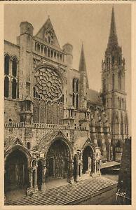 PC28682 Chartres. Le Portail Nord et la Fleche. Yvon