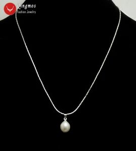 10-11mm-Natural-Rice-White-Pearl-Pendant-Necklace-Women-16-034-Chain-Pearl-Chokers