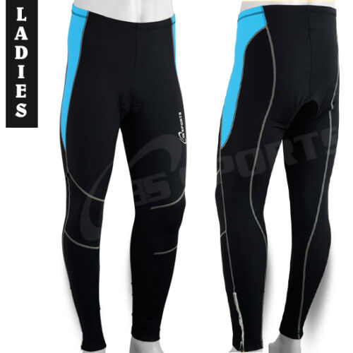 Ladies Cycling Trousers Cycle Winter Legging Tights Padded SkyBlue S,M,L,XL