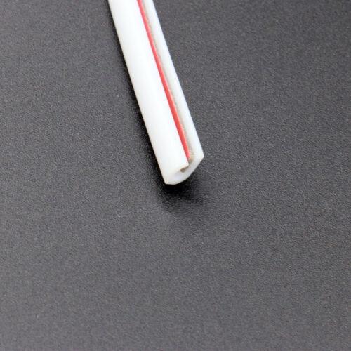 5M White Car Door Edge Scratch Protector Strip Guard Moulding Trim Cover 16FT