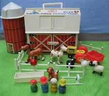 Vintage Little People Play Family Farm Barn Masonite Base 915~100% Complete!