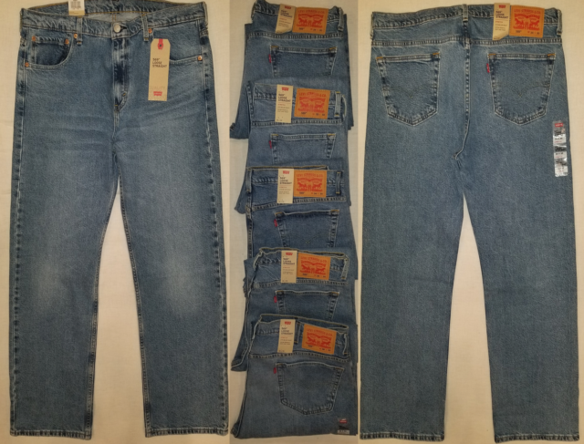 14399ba7e4e Levi's 569 Loose Straight Men's Stretch Jeans Pants 00569-0271 Medium Blue