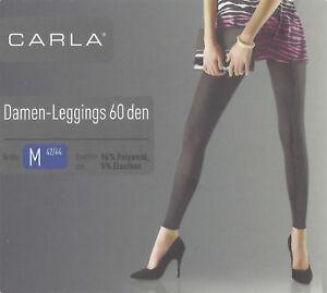 Damen-Leggings-60-den-Leggins-schwarz-Stretch-S-M-L-Oko-Tex-Standard