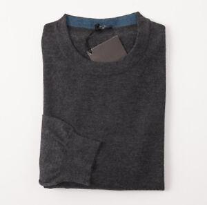 NWT-1995-KITON-Charcoal-Gray-Superfine-Cashmere-Silk-Sweater-M-Eu-50