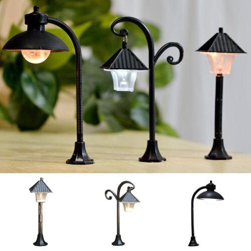 Micro Landscape Road Light Model Miniatures Street Lamp Figurine Streetlight