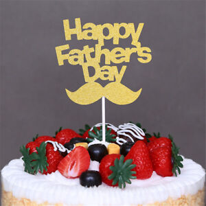Image Is Loading Happy Father 039 S Day Cake Toppers CupCake