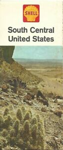 Details About 1962 Shell Oil Road Map South Central United States Texas Oklahoma Route 66