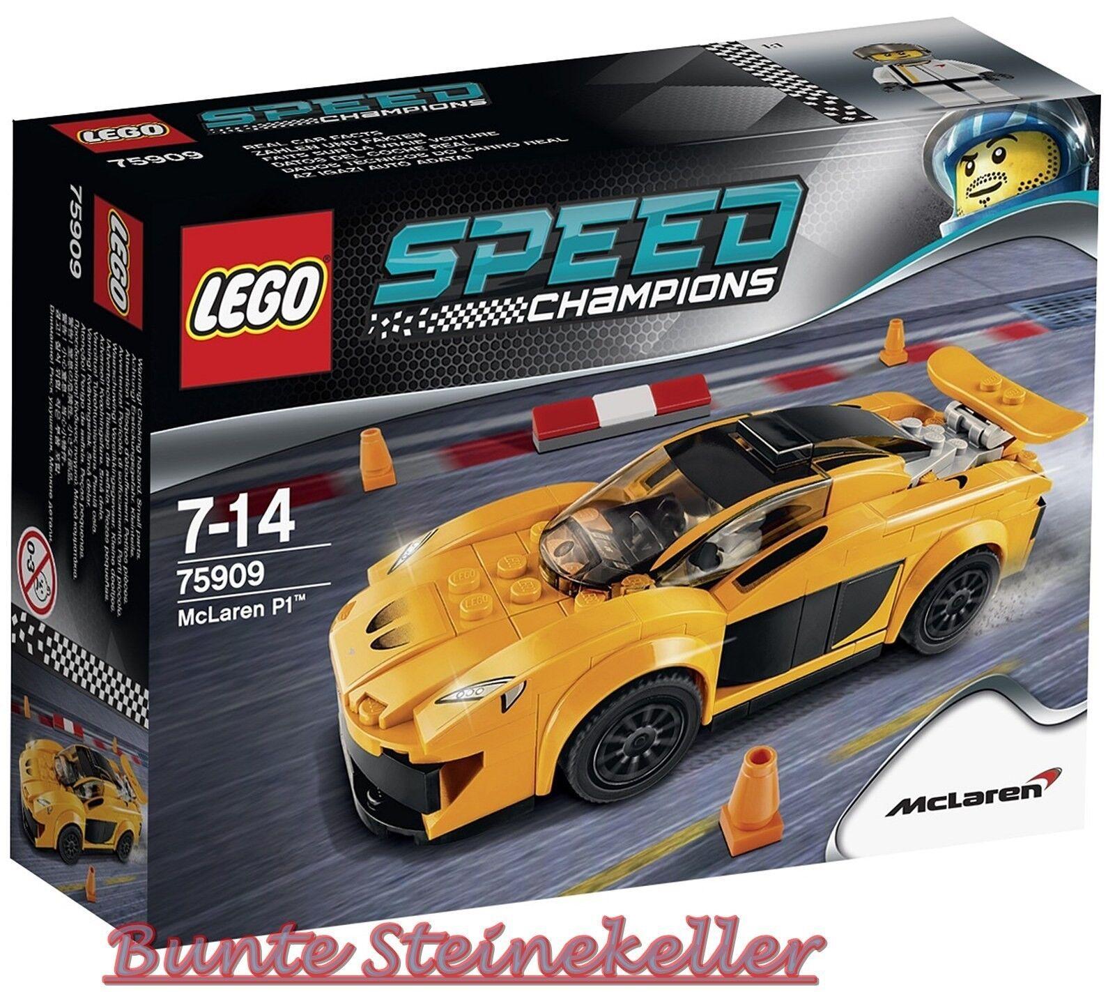LEGO ® Speed Champions  75909 McLaren p1 ™ & 0. - expédition & neuf dans sa boîte & Nouveau & En parfait état, dans sa boîte scellée