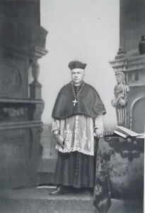 JOHN-SALPOINTE-France-Born-Archbishop-of-Santa-Fe-Portrait-1889-Antique-Print