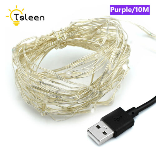 5m//10m USB Powered Fairy Lamp Silver Wire Waterproof LED String Starry Light 6E