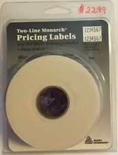 2 Line White Monarch Pricing Labels for the 1115 Pricing Labeler