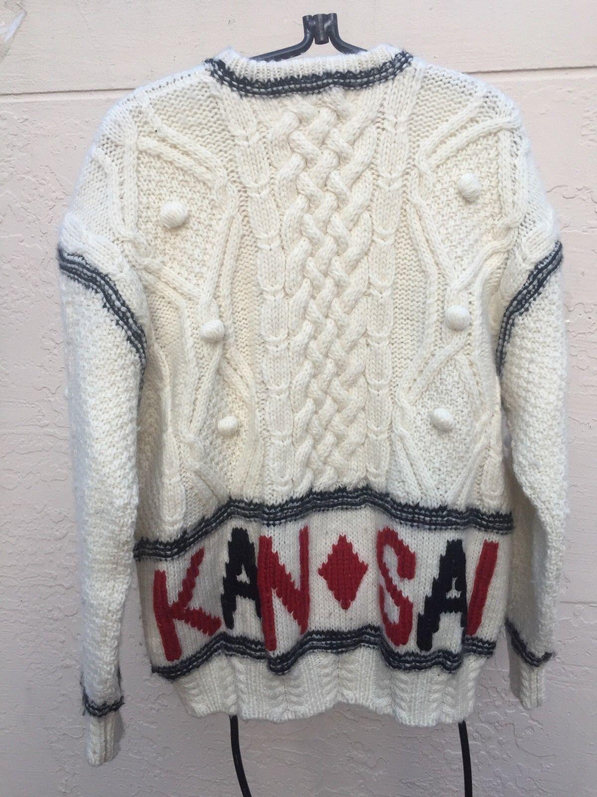 KANSAI YAMAMOTO O2 VINTAGE CHUNKY 100% WOOL SWEAT… - image 5