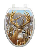 Toilet Tattoos Deer Toilet Seat Decor Crowning Glory Stag Vinyl