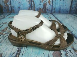 Dansko-Brown-Leather-Strappy-Wedge-Sandals-Shoes-Women-039-s-Size-40-9-5-10