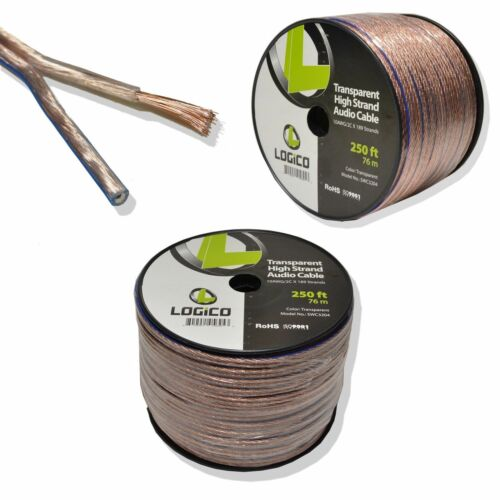 10 Gauge Car Home Audio Speaker Wire 250 ft Speaker Cable 10AWG 250'