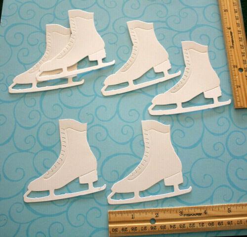12 ICE SKATE paper die cut embellishment *FreeShipPromo* scrapbook card making