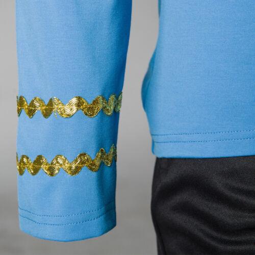 Star Trek TOS Costume Cosplay Captain Kirk Yellow Shirt Spock Blue Red Uniforms