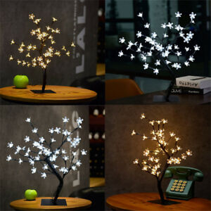 45cm Cherry Blossom Tree 48 Led Twig Light Table Lamp Christmas