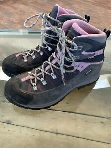 Asolo Gray & Pink GTX Gore-Tex Hiking Boots Women's Size 9.5 US