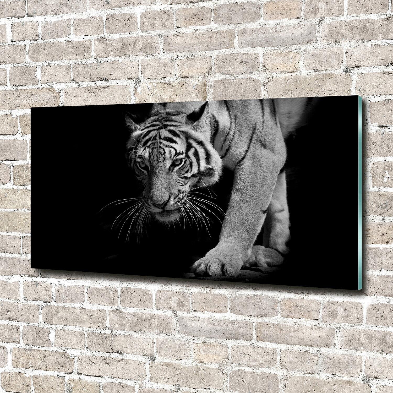 Wandbild aus Plexiglas® Druck auf Acryl 140x70 Tiere Tiger