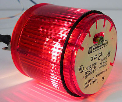 Red Telemecanique XVA-C341 Stack Light Lens XVA-LC3 w// 24V 6.5W Lamp XVAC341