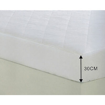 Extra Deep Fitted Quilted MicroFibre Mattress Protector Anti Allergy & Dustmite