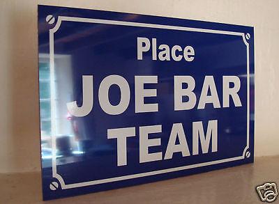 déco originale JOE BAR TEAM Plaque de rue objet collection cadeau pour fan