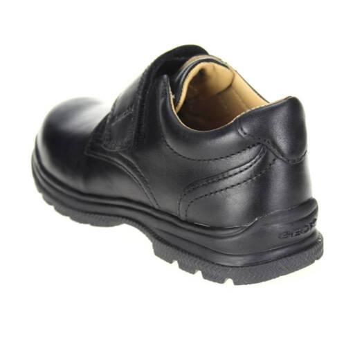 Geox William Boys Black School Shoe