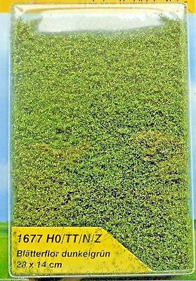 (224,23 €/m²) Heki 1677 Fogli Flor Verde Scuro, Foliage, 28 X 14 Cm, Nuovo-mostra Il Titolo Originale