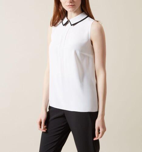 12 Uk Rrp Bnwt Hobbs Top Eur Pure Stunning Silk 40 Usa Size 8 £99 Imogen Rq8F0