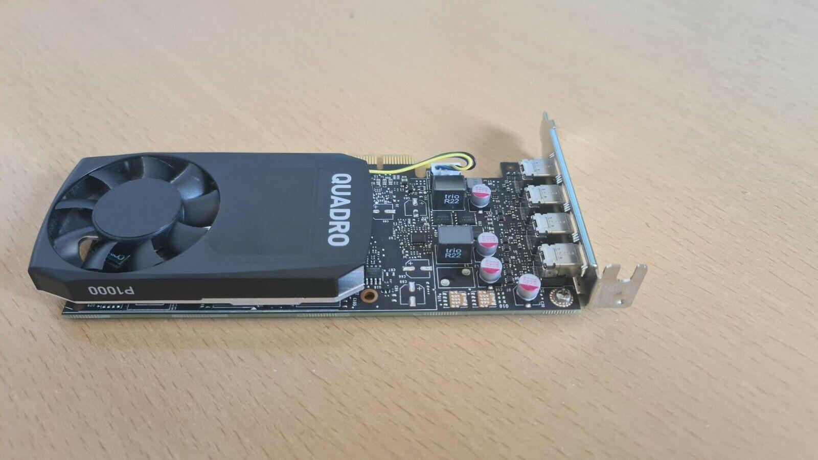 Nvidia P1000 4GB GDDR5 4 x Mini Display Low Profile