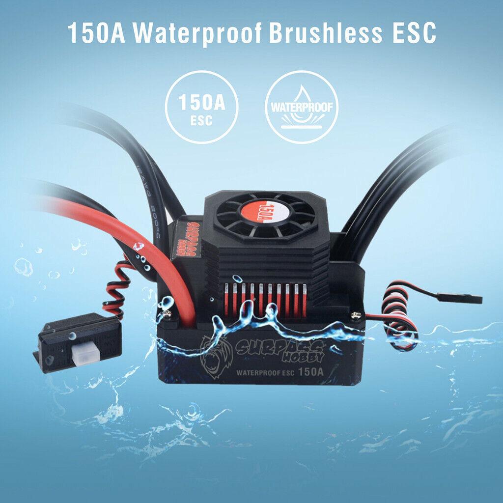 IMPERMEABILE SENSORI BRUSHLESS  ESC regolatore di velocità 150A per 1 8 RC auto 4S 6S  molte sorprese