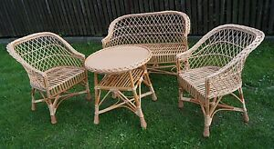 Set di mobili da giardino sedie divano tavolo da esterno patio veranda vimini ebay - Mobili di vimini ...