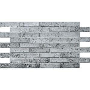 Pvc Plastic Wall Panels 3d Decorative Tiles Cladding Grey Brick Effect 0 97m2 Ebay