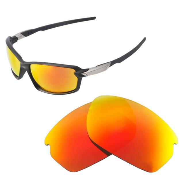 2cdfde1f1a Walleva Fire Red Polarized Replacement Lenses for Oakley Carbon Shift  Sunglasses