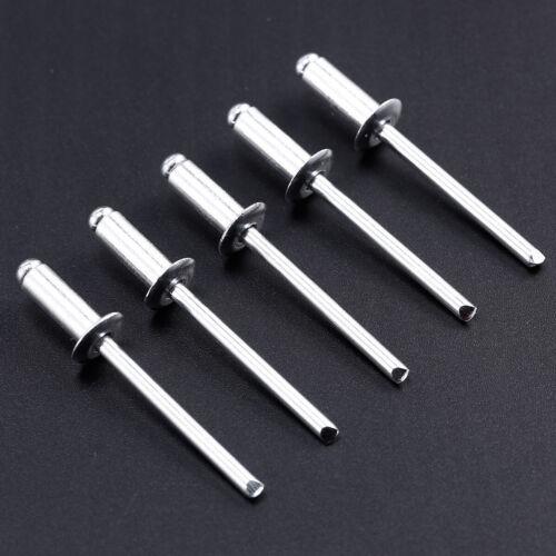 100 Pieces Pop Rivets Standard 4.8mm Aluminium Dome Head Blind Choose Length