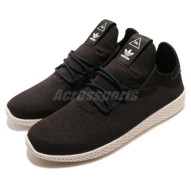 adidas Originals PW Tennis Hu Pharrell Williams Black White Men Shoes AQ1056