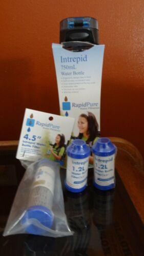 Rapidpure Intrepid bouteille d'eau Purificateur Filtre avec 3 Extra Filtre! Brand New.