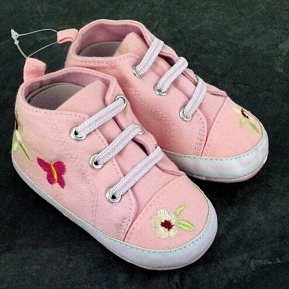 So Cute Baby Boy Girl Pram Shoes Infant Toddler PreWalker Trainers Newborn to 12