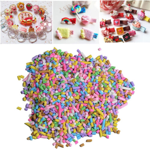 DIY 50g Polymer Clay Fake Candy Sugar Sprinkle for Phone Case Decorations Gift