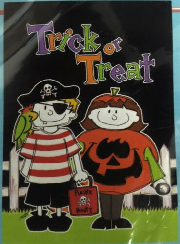 LRG HALLOWEEN PORCH FLAG 28X40 BANNER PEANUTS// BOO//GHOST//SCARECROW//FALL 75/%OFF