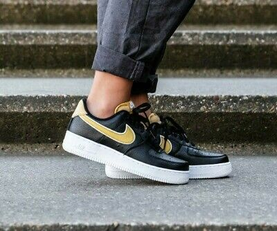 Damen Nike Air Force 1'07 SE Größe 6 EUR 40 (aa0287 017) schwarzWeizen Gold   eBay