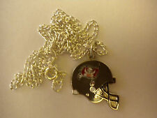 Tampa Bay Buccaneers Helmet Charm Necklace - silver tone petite chain